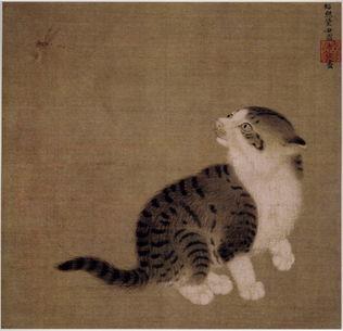 壁纸 动物 国画 猫 猫咪 小猫 桌面 316_305