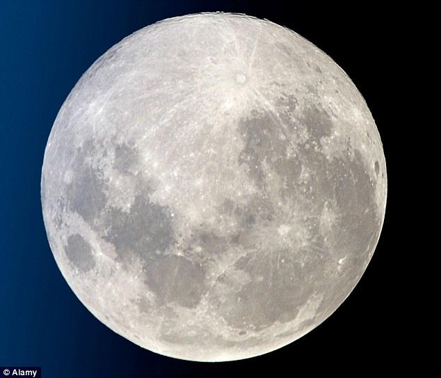 月亮周围有一个圆圈