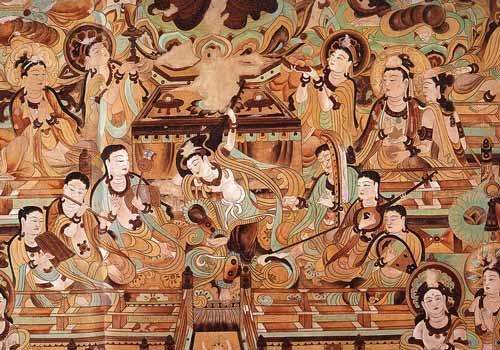 敦煌壁画临摹师:十年摹得飞天韵图片