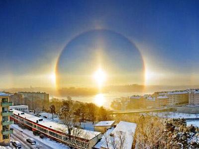 三个太阳!俄罗斯现罕见奇观