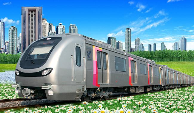 印度孟买一号线地铁列车