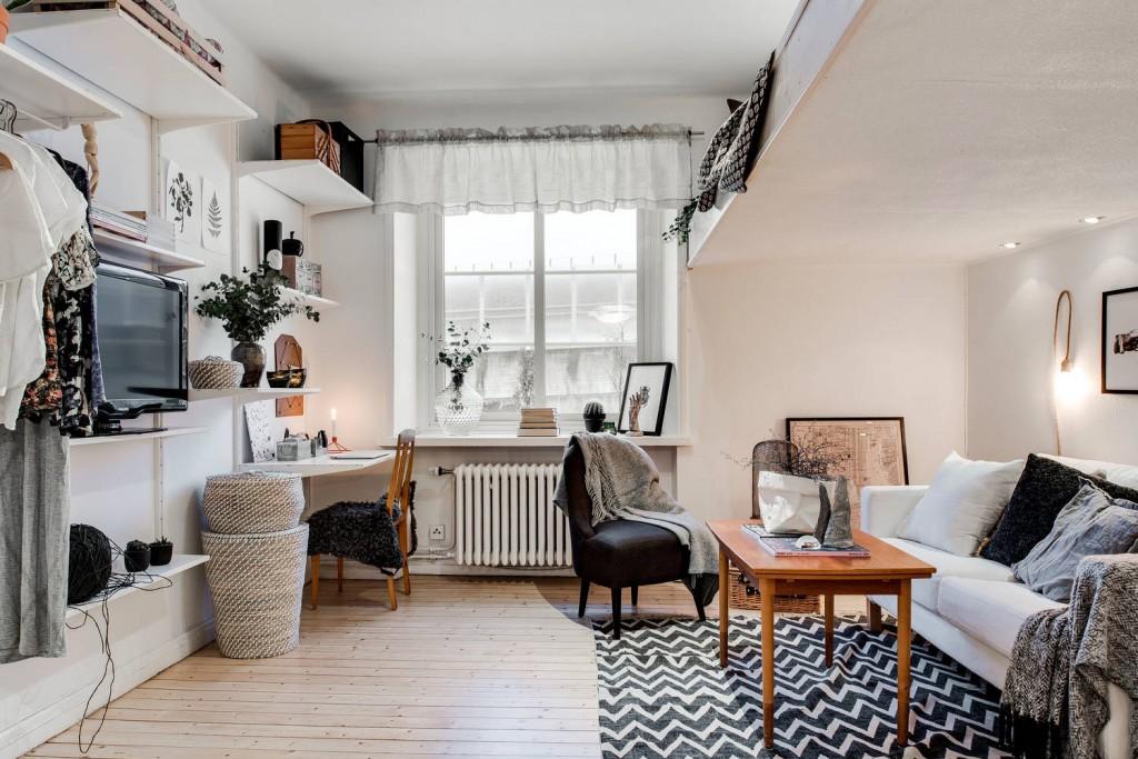 装修 设计案例 正文  1/21 34平米也能打造实用而舒适的单人学生公寓