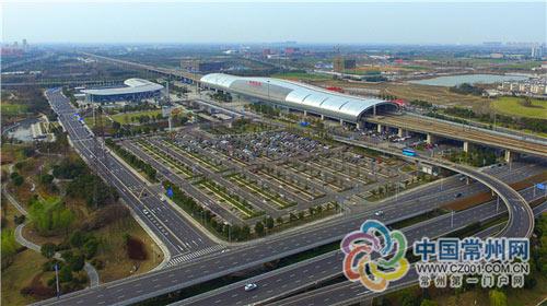 高铁北站已引入海绵城市设计理念建成生态停车场-常州建海绵城市