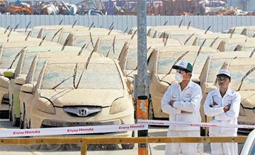 1055辆本田车被淹 日本人是这样处理水淹车的