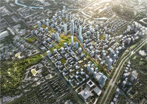 城市规划设计效果图高清图片