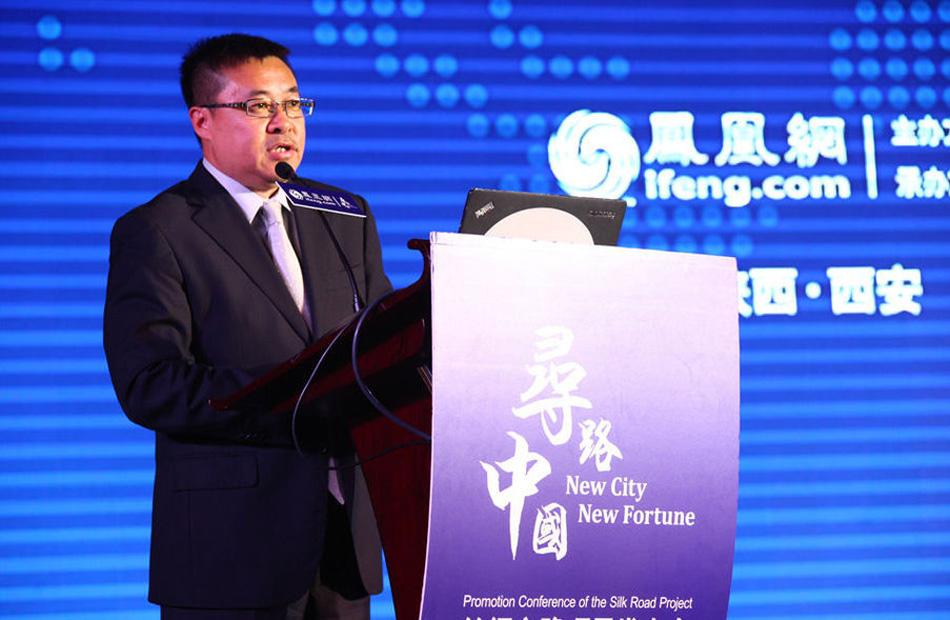 凤凰网副总裁邹明发布会上致辞。