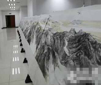 120米画卷《黄河九曲万里入海图》展出