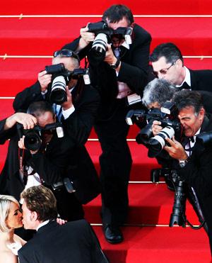 戛纳电影节上的摄影师