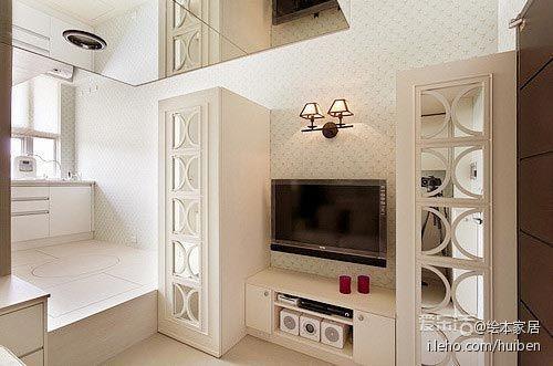 平方米;户型:小户型;风格:现代简约.两立体柜间因设计师事前预高清图片