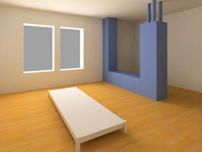 房內柱角衝射,不利健康和婚姻。