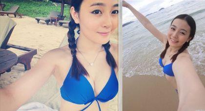 刘谦22岁前女友李蕴晒比基尼照 曾拍秀三点写真(图)