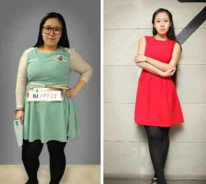最美女胖子 晒减肥前后对比照 称瘦身不为男友