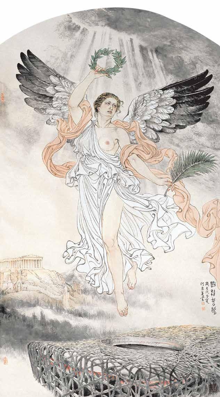 胜利女神 何家英 / Victory Goddess He Jiaying / 248cm×124cm