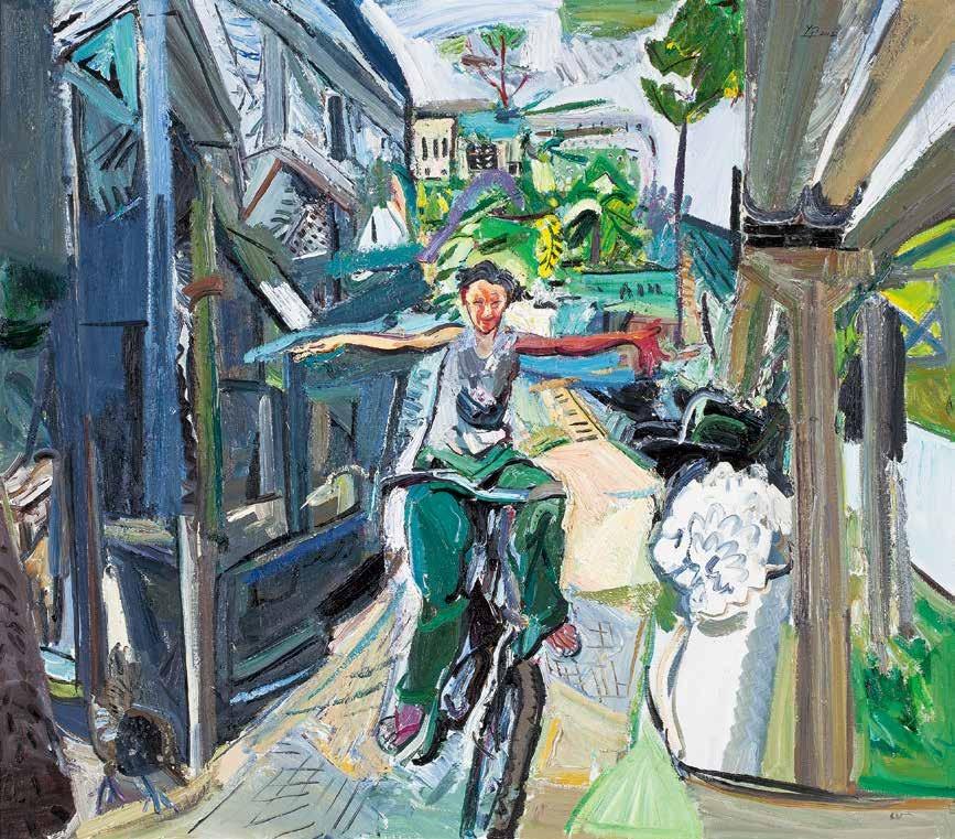 大撒把 闫平 /  Bicycle Riding Yan Ping / 140cm×160cm