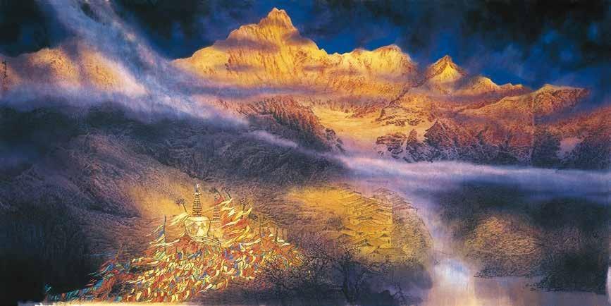 香格里拉 张怀伟 /  Shangri-La Zhang Huaiwei / 124cm×248cm