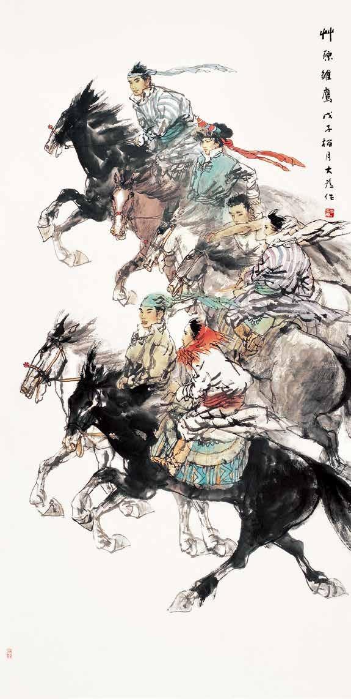 草原雏鹰 刘大为 /  Eyas of Grassland Liu Dawei / 248cm×124cm