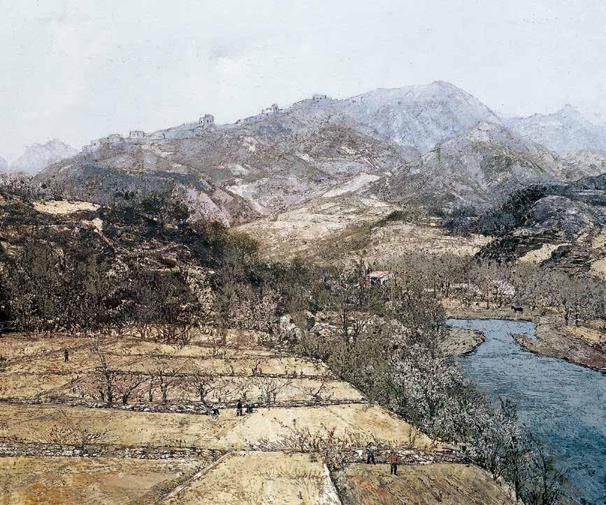 燕山系列之五 马虹 /  Series 5 of Yanshan Mountain Ma Hong / 150cm×180cm
