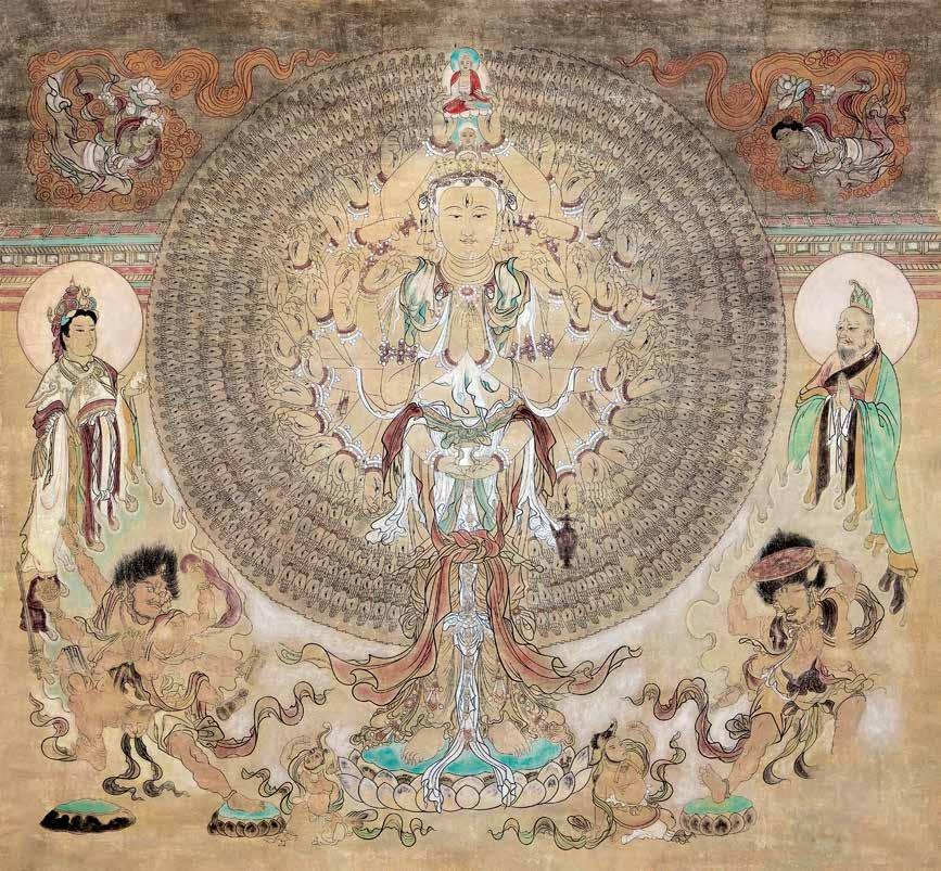 千手千眼观音 牛玉生 Thousand-Hand and Thousand-Eye Buddha Niu Yusheng / 220cm×217cm