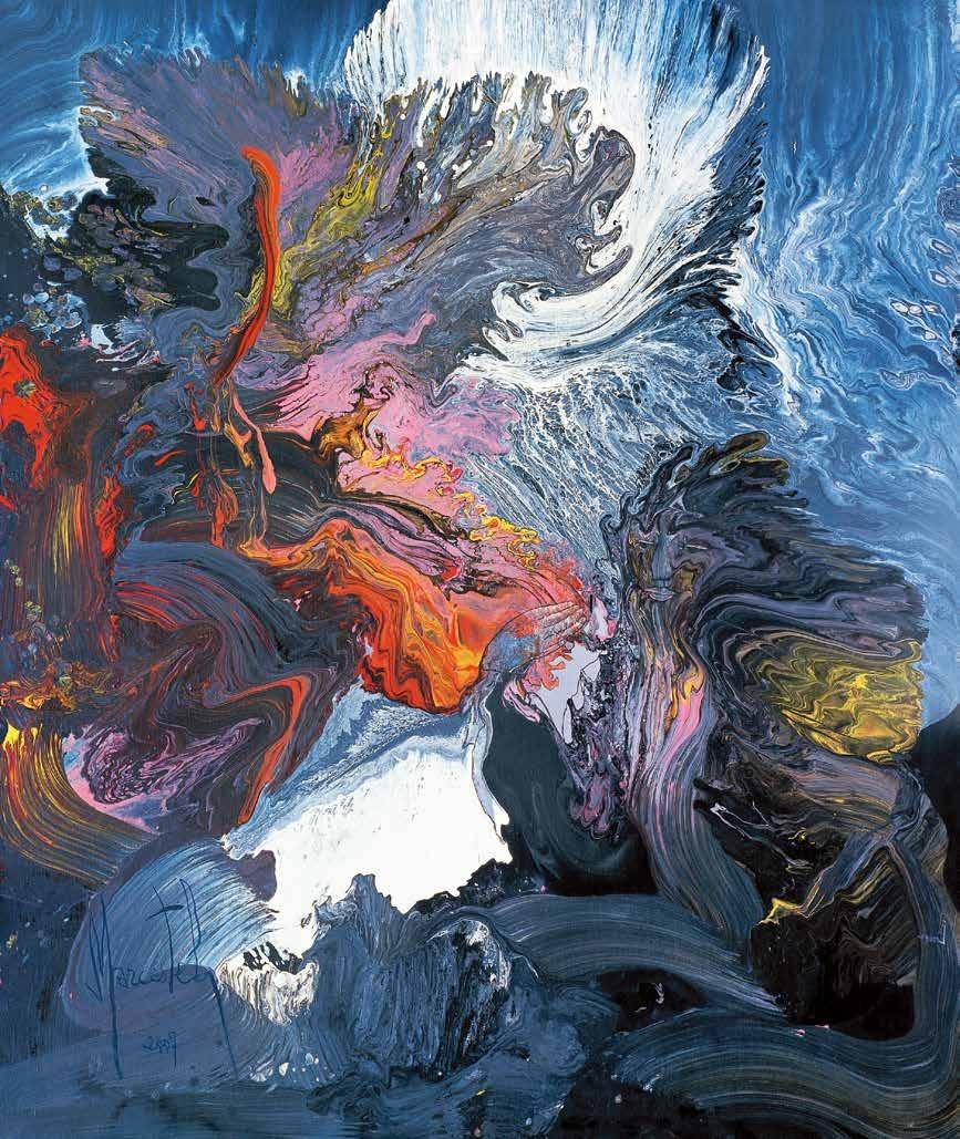 燧人钻木取火 马克(法国) /  Getting Fire by Drilling the Wood by Suiren Marcestel (France) / 180cm×150cm