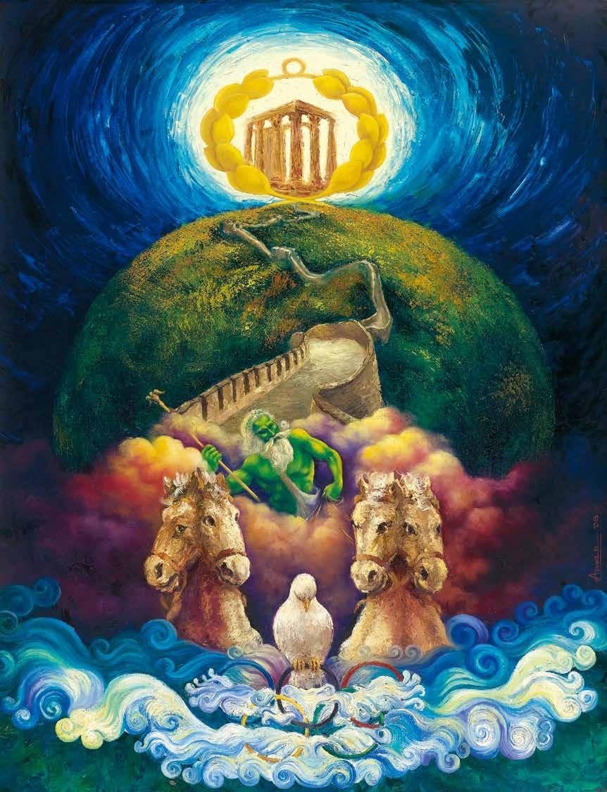 世界和平的自然与奥林匹克 安玛尔·达斯(印度) /  World Peace Nature and Olympic Amar Das (India) / 119cm×91cm