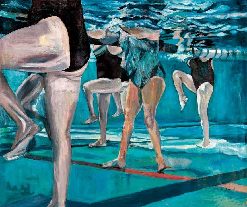 水上芭蕾 德比·卡佩尔(以色列) /  Swimballet Debbie Kampel (Israel) / 100cm×110cm