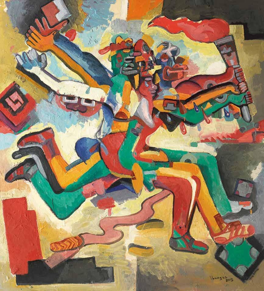 物质、能量与运动 杰尔曼·维纳加斯(墨西哥) /  Matter, Energy and Movement German Venegas (Mexico) / 200cm×180cm