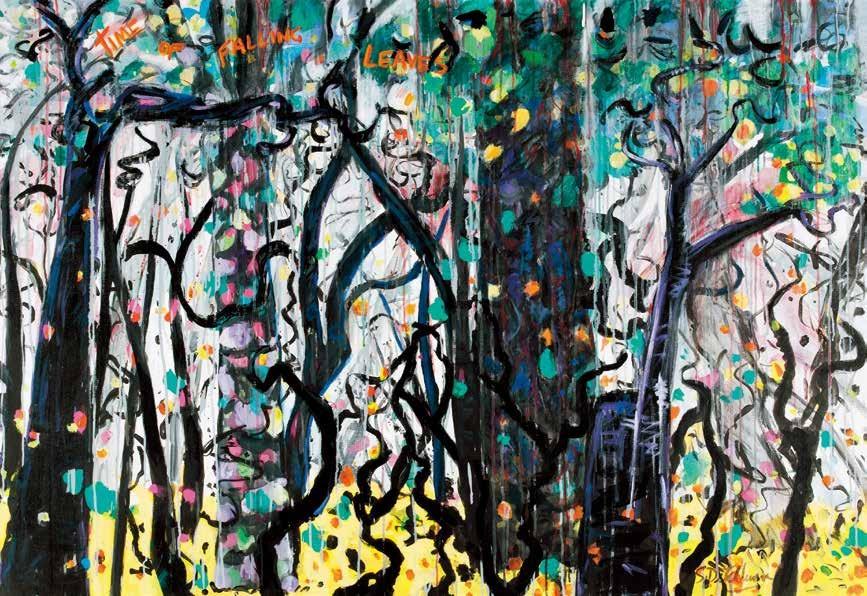 落叶的季节 塞尔维亚·迪其博恩(澳大利亚) /  Time of Falling Leaves Sylvia Ditchburn (Australia) / 112cm×162cm