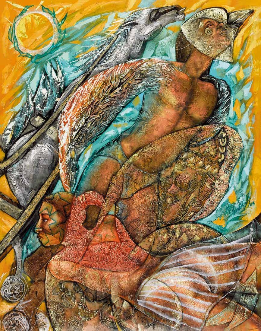 和谐和充满活动的宇宙 伊斯列尔·刚萨雷斯·李维罗(古巴) /  Harmonic and Dynamic Universe Israel González Rivero (Cuba) / 99cm×81cm