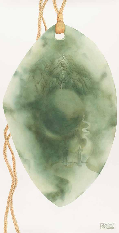绿玉 — 我们的财富 珍妮特·安德鲁斯(新西兰) /  Pounamu-Our Treature Janet Andrews (New Zealand) / 138cm×72cm
