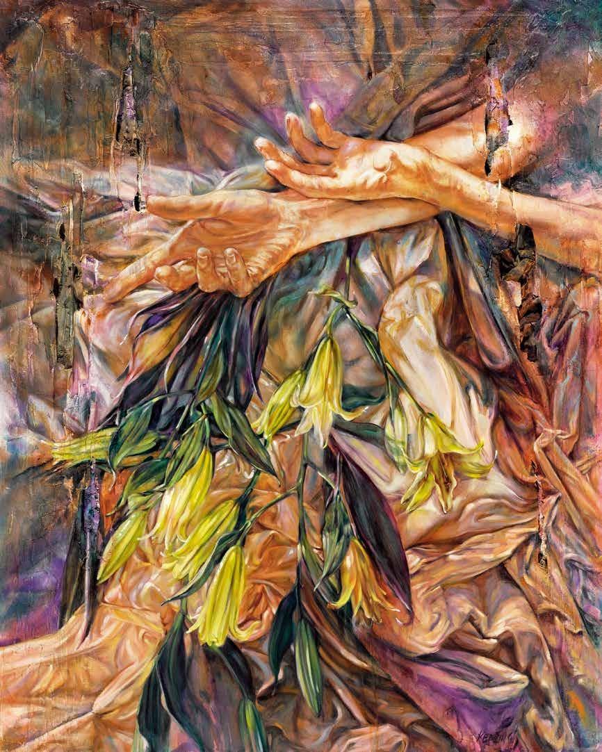 东方的百合 约翰·基廷(爱尔兰) /  Oriental Lilies John Keating (Ireland) / 150cm×120cm