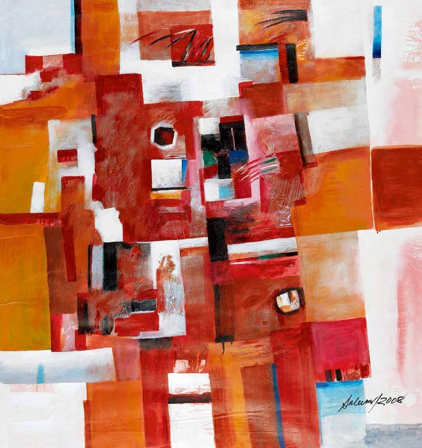 紫禁城的色彩与奥林匹克 克什德·A·萨利姆(美国) /  Forbidden City Color and Olympic Khurshid Alam Saleem (USA) / 120cm×120cm