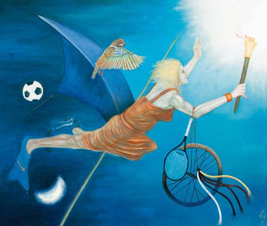 体育与奥林匹克 玛格丽特·古本娜(瑞士) /  Sport and the Olympics Margaretha Gubernale (Switzerland) / 100cm×120cm