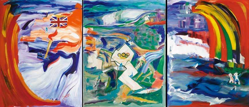 悦动·伦敦 墨客(缅甸) / Arts with Joys Myo Khin (Burma) / 189cm×150cm×3