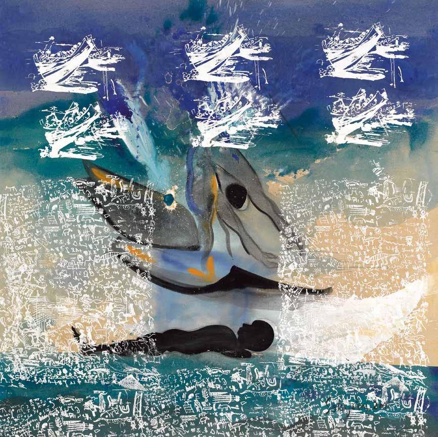 希望破灭的一刻 索基·埃德(多哥) /  Wreck of the Hope the Arrival Sokey Edorh (Togo) / 200cm×200cm