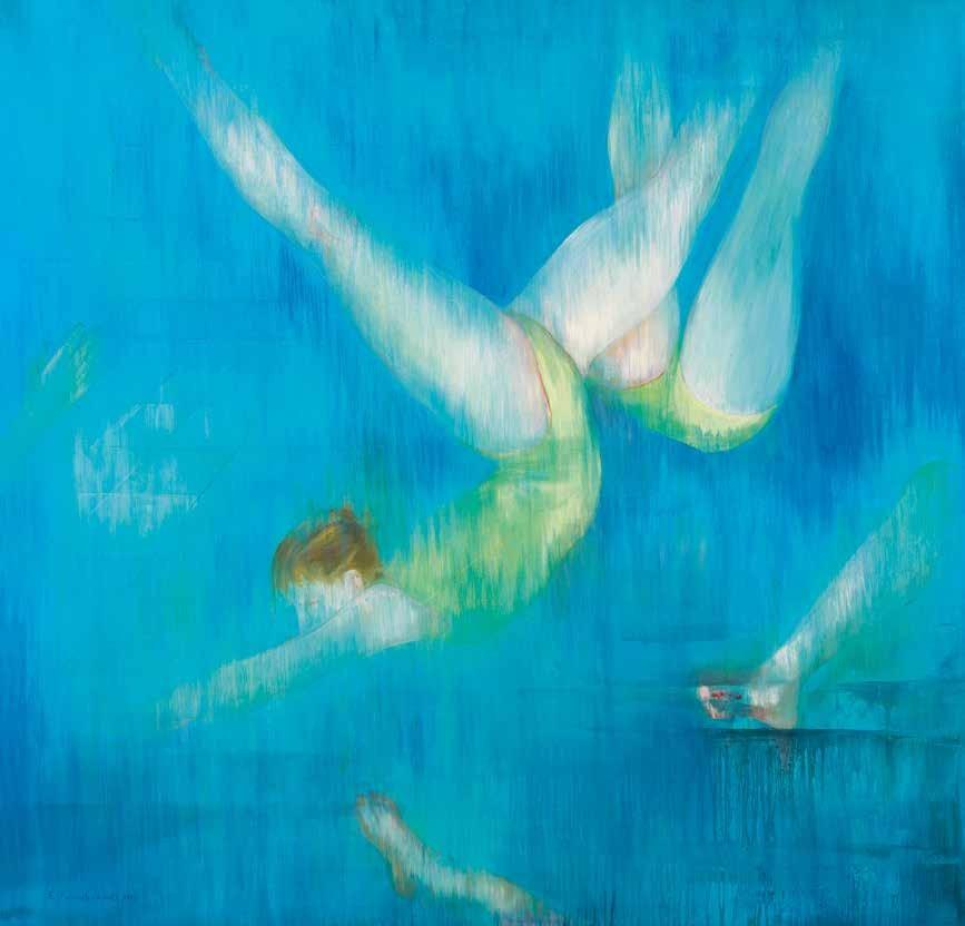 蓝色的天空 斯黛拉·帕帕马内尔(希腊) /  Blue Space Stella Papaemmanouil (Greece) / 140cm×145cm