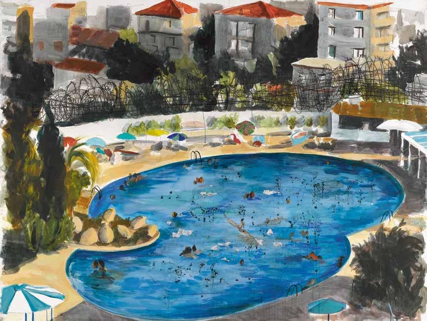 带有泳池的豪华酒店 西来里·拉蒙(阿尔及利亚) /  Piscine d'un Hotel de Luxe Thilleli Rahmoun (Algeria) / 150cm×200cm