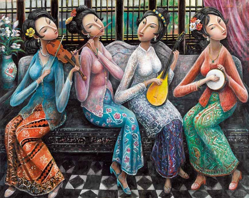 娱 源子玲(马来西亚) /  Nyonya Ensemble Yuen Cheeling (Malaysia) / 100cm×116cm