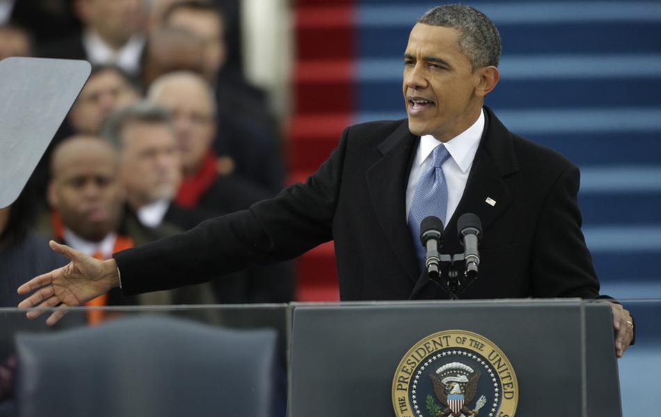 奥巴马公开宣誓就职 重申平等和团结 - 安妮图娃 - 读图时代