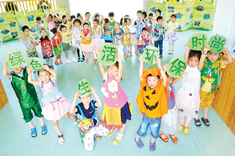 所有参与此次创意环保衣服制作的小朋友都可以