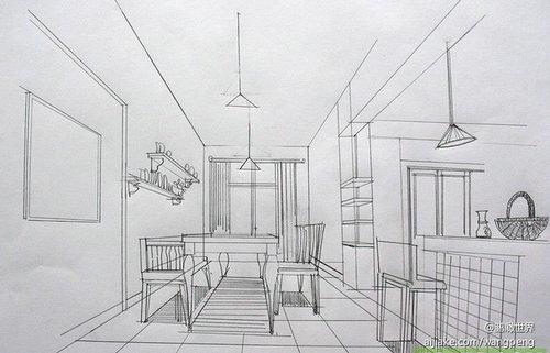室内家具手绘设计图展示