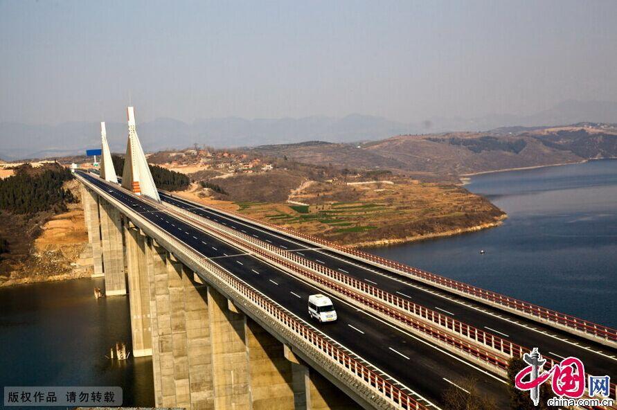 湖北今年首条高速郧十高速建成通车 组图