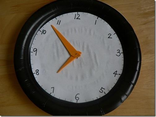 纸质手工制作钟面模型步骤