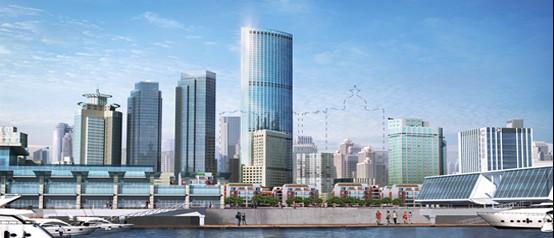 贝氏建筑助力青岛财富中心问鼎青岛新地标