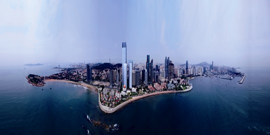 深蓝中心以35万平方米的超高端城市综合体立身百年青岛,整个项目由