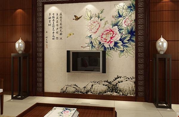 9款瓷砖电视墙装修效果图 让你一饱眼福