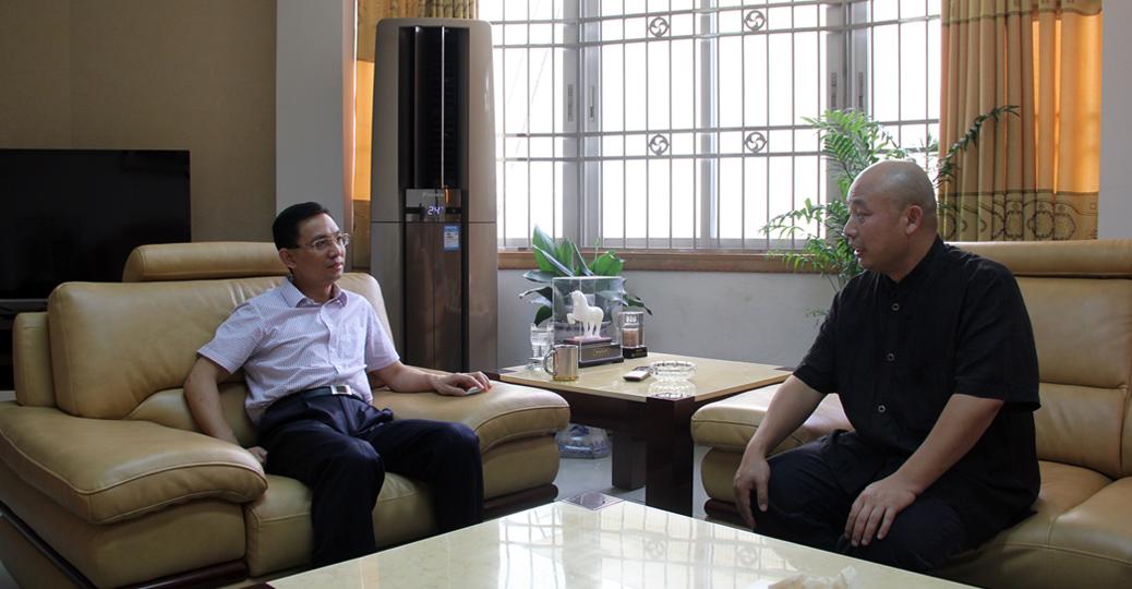 凤凰广州CEO刘晓明与南雄市委书记曾风保会面