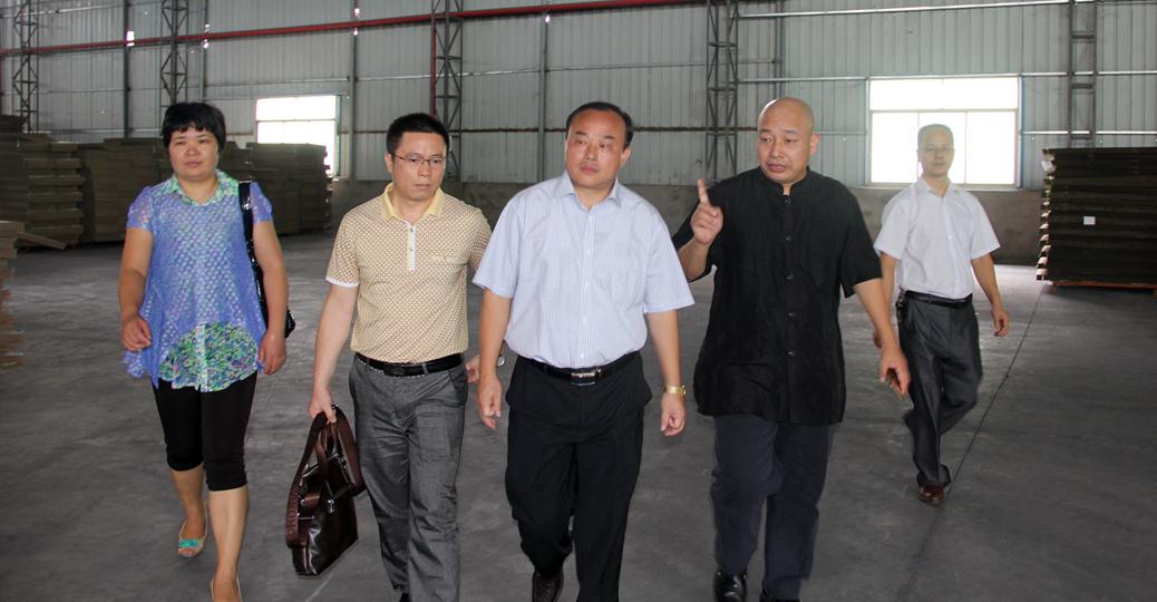 康绿宝集团董事长顾惠林带领凤凰广州CEO刘晓明一行参观厂房