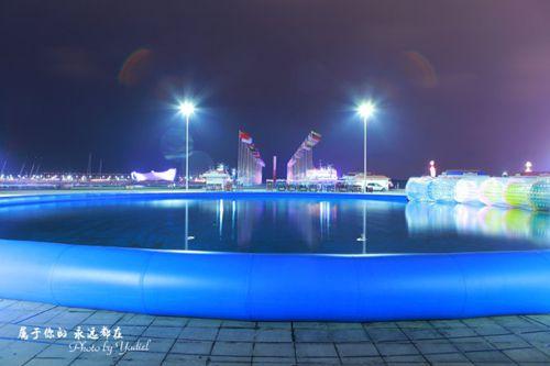 青岛:灯火阑珊的五四广场与奥帆基地