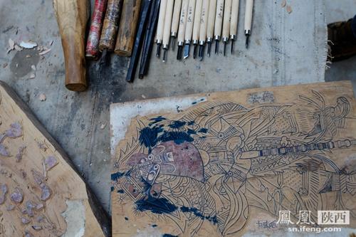 """什么是凤翔木板年画的""""套色印刷""""?"""