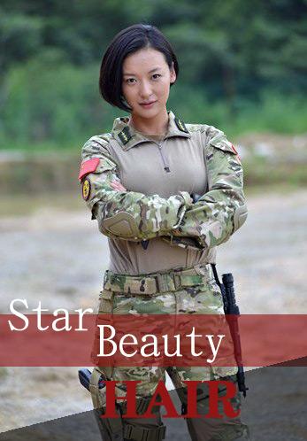 惊艳!火凤凰女兵戏外演绎绝美发型图片